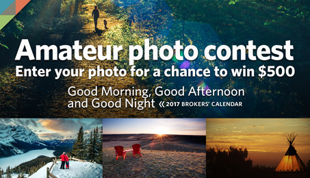 Amateur photo contest. Enter your photo for a chance to win $500. Good Morning, Good Afternoon and Good Night.