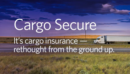 Cargo Secure. It's cargo insurance - rethought from the ground up.